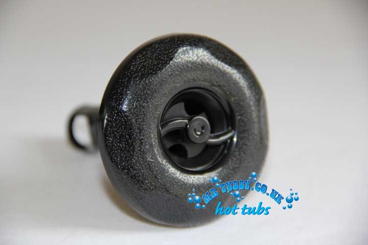 "2"" Black Scallop Face Spinning Jet RD213-2011"