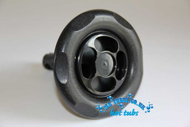 "5"" Black Scallop Face Multiport Spinning Jet RD203-5011/12"