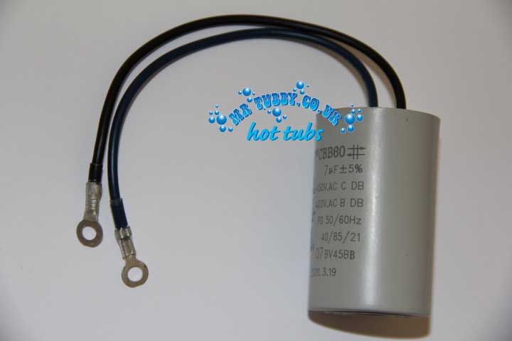 7uf Hot Tub Pump Capacitor - for Whirpool LX WTC50M, TDA50, JA50, JA35, STP50 and other pumps