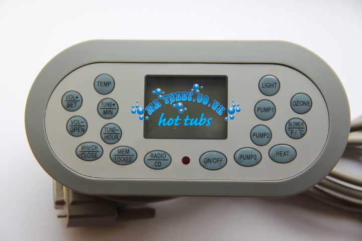 JNJ Topside Hot Tub Control Panel KL8-2, used by Spaserve, Trade Price Group TCP8-2