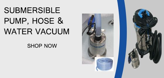 Submersible Pump, Hose and Water Vacuum